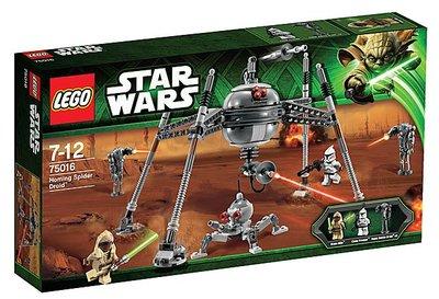 樂高LEGO 75016 絕版-星際大戰Homimg Spider Driod Stass Allie  全新未拆盒