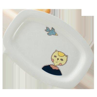 千夢貨鋪-陶瓷餐具裝魚盤子蒸魚盤餃子盤...