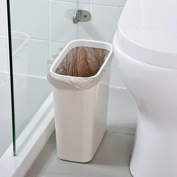 垃圾桶 垃圾袋 家用 廚房 全場滿千減百 衛生間縫隙垃圾桶家用廚房塑料簡約夾縫無蓋長方形壓圈垃圾筒小號