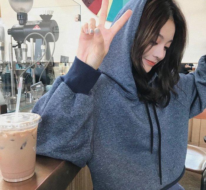 ❤Princess x Shop❤秋季新款韓版寬鬆長袖連帽T恤DL0809111正韓洋裝一字領露肩性感
