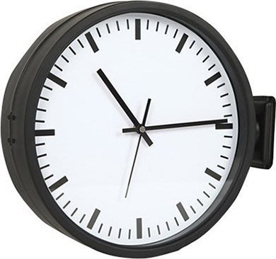 [On Loft]double sided clock極簡設計師雙面鐘壁鐘 loft地鐵雙面車站鐘-12吋(小)雙面刻度