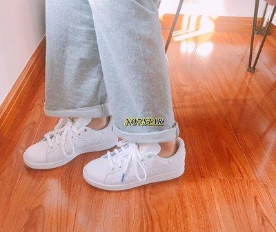 Adidas Originals Stan Smith 史密斯 白金 全白 藍黃 織帶 皮革 休閒 男女鞋 CG6014