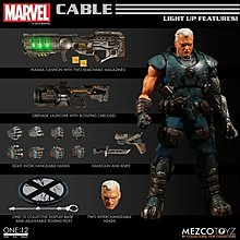 全新 現貨 Mezco One:12 Collective Marvel Legends Cable 1/12 deadpool 電纜 shf dc mafex