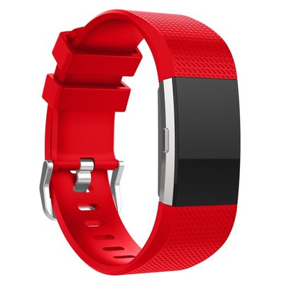 小胖 環保矽膠 Fitbit Charge 2 智能手環凹紋矽膠錶帶 fitbit charge2 運動手錶七色替換腕帶