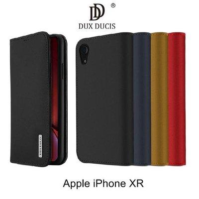 --庫米--DUX DUCIS Apple iPhone XR WISH 真皮皮套 插卡 可站立 保護套