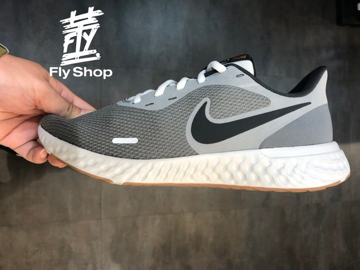 [飛董] NIKE REVOLUTION 5 慢跑鞋 男鞋 BQ3204-0080 灰色