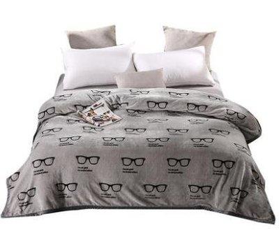 玉沙毛毯加厚珊瑚絨毯子床單雙人加大空調毯毛巾被法蘭絨蓋毯xw