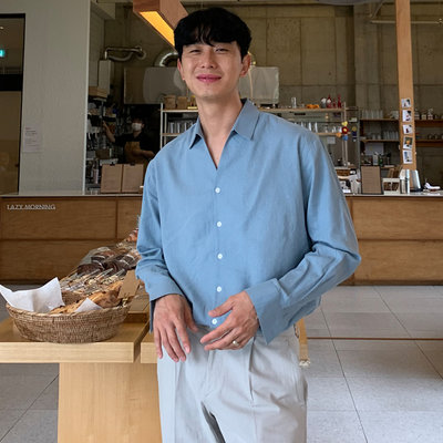 KOREALINE搖滾星球 / 夏日亞麻襯衫 / 4色 / GP3868