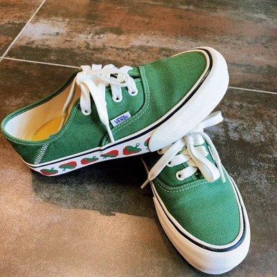 "VANS Authentic SF""GARDEN/GRN""板鞋""綠草莓""VN0A3MU6VL9"