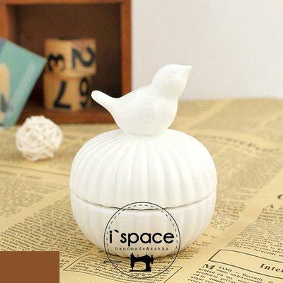 ~i`space手作.雜貨~~ zakka風格可愛動物首飾盒陶瓷 可愛萌系耳環戒指飾品雜物收纳盒~小鳥款