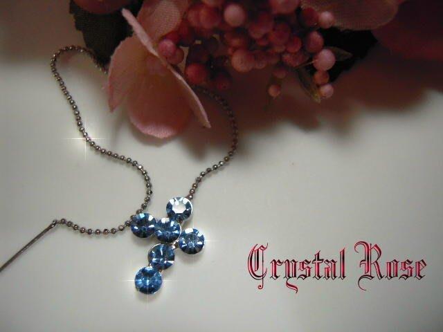 ※水晶玫瑰※ 水晶鑽 耳針式耳環(DD397)