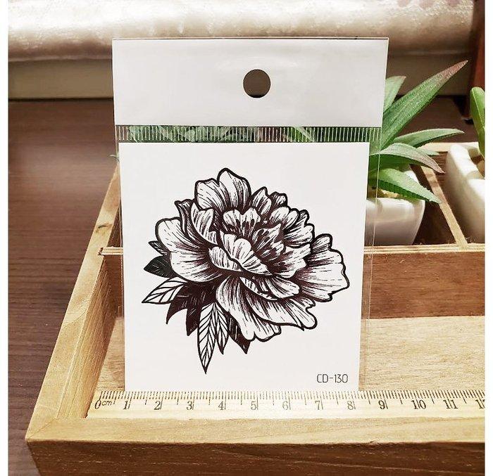 【萌古屋】】線條花朵 - 手背防水紋身貼紙刺青貼紙CD-130 K12