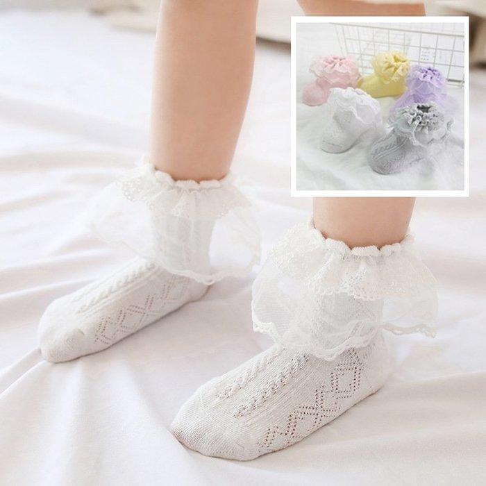 【小阿霏】兒童寶寶短襪 女孩蕾絲花邊淑女短襪 女童小童夏日短襪子 搭配洋裝皮鞋涼鞋都好看PA227