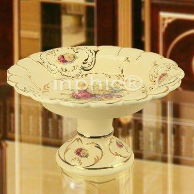 INPHIC-新款歐式果盤 奢華高腳陶瓷浮雕大款家居裝飾品水果盤FGP26