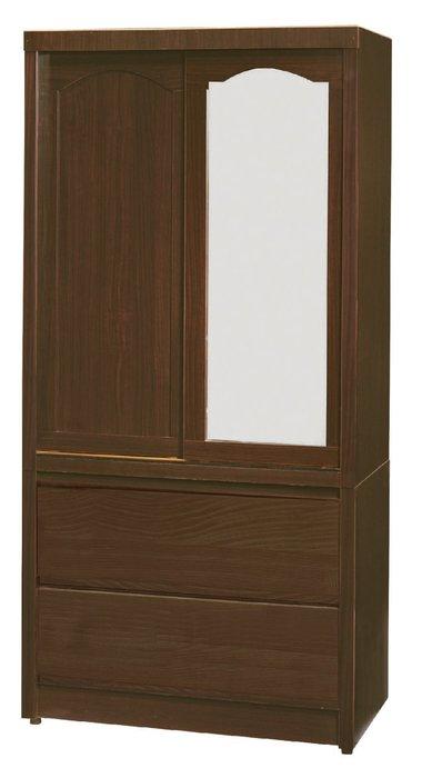 【南洋風休閒傢俱】精選時尚衣櫥 衣櫃 置物櫃 拉門櫃 造型櫃設計櫃- 胡桃3*6尺衣櫥 CY187-361
