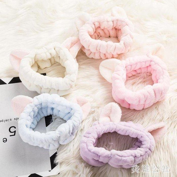 日本可愛立體貓咪耳朵束發帶 洗臉頭帶化妝敷面膜發套賣萌發飾OB2356