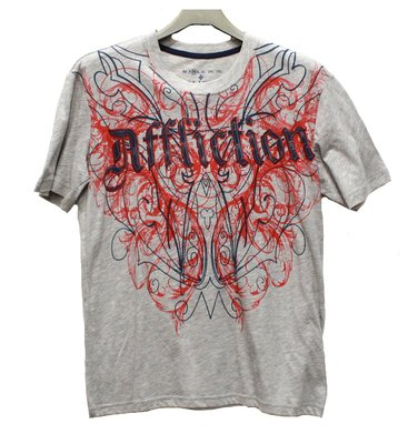 Xtreme couture  affliction 紅色雙蟒/刺青圖案 T shirt