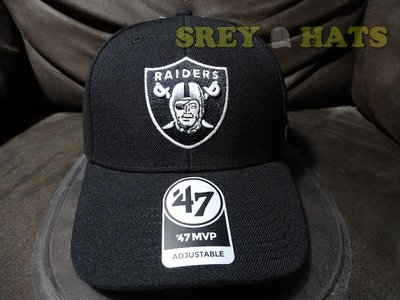 [SREY帽屋]預購*47 Brand MVP NFL 奧克蘭突擊者 RAIDERS 經典圖 硬挺版型 棒球帽 老帽