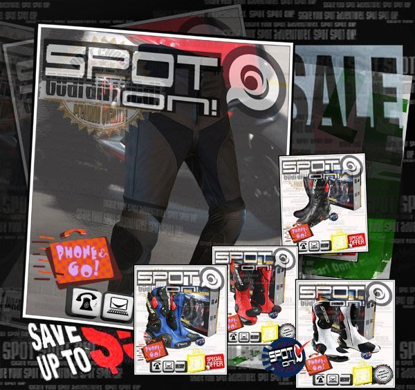 Spot ON - EU11 真皮防摔褲-滑行塊款 搭購 新款B1001賽車鞋-全Size 大尺碼!  VESPA