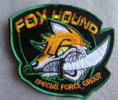 潛龍諜影(合金裝備/MGS)游戲周邊 Foxhound徽章 刺繡徽章魔術貼