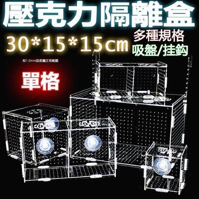 單格30x15x15cm超透亞克力隔離盒【掛勾/吸盤款 任選】壓克力繁殖盒、壓克力隔離盒、壓克力拍照盒孵化魚缸可參考