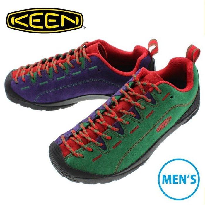 =CodE= KEEN JASPER ROCKS SP 麂皮多功能慢跑健行鞋(綠紅紫) 1019466 聖誕節 男