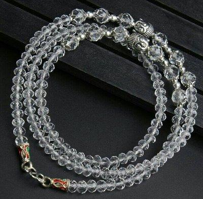 「還願佛牌」泰國佛牌鏈 串珠款 項鍊 單掛 經典 佛牌鏈子 帝王 施華洛世奇 切割 水晶