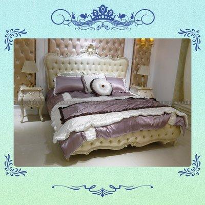 [紅蘋果傢俱] CT-001 新古典系列 床架 床頭櫃 歐式 新古典床 高檔 法式 奢華 雙人床  床架