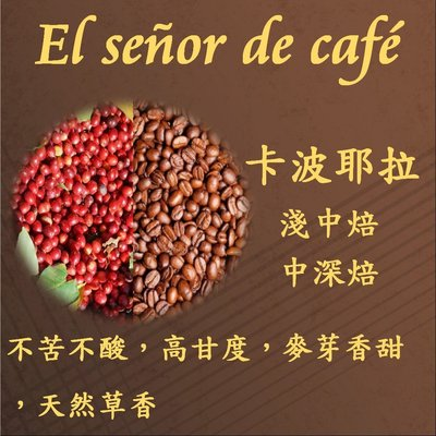 獨家風味{El señor de café} 咖啡先生 [卡波耶拉] 咖啡豆 適合製作冰咖啡 半磅210