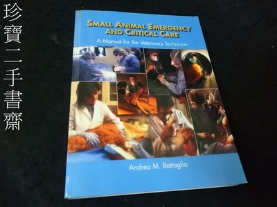 【珍寶二手書齋FA157】Small Animal Emergency and Critical Care: