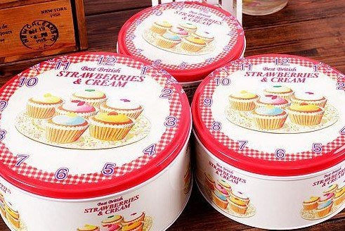柒月茶花╭*輕。雜貨。銀杏 鐵藝美學 時光旅行 美式鄉村風 圓型收納鐵盒 餅乾盒 禮盒 包裝盒 三件套