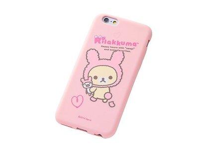 尼德斯Nydus~* 日本正版 San-X 拉拉熊 牛奶熊 懶妹 矽膠 軟殼 手機殼 粉紅款 4.7吋 iPhone6