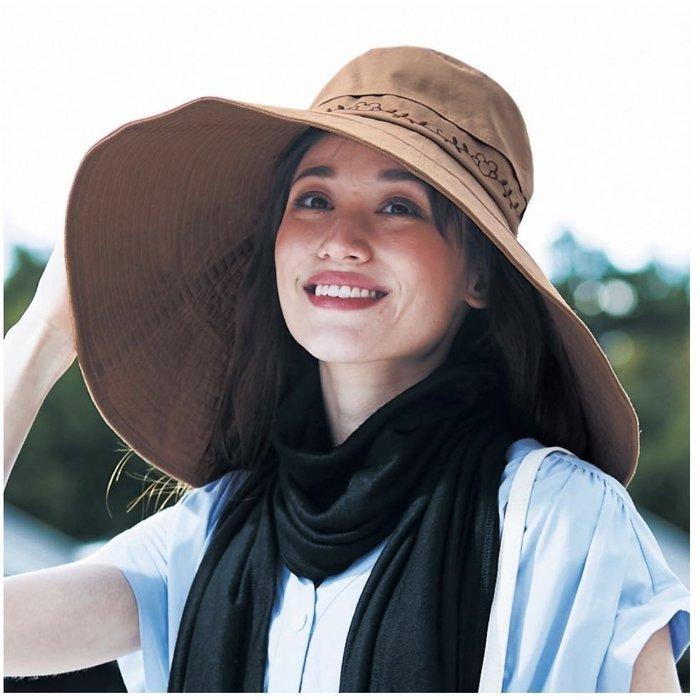 日本代購 正版 迪士尼 抗菌除臭 可放保冷劑 純棉 遮陽帽
