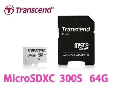 「Sorry」Transcend 創見 MicroSDXC T-Flash TF 64G U1 95M 記憶卡 附轉卡
