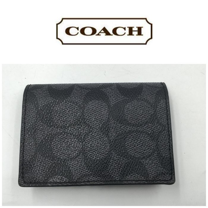 【皮老闆二店】 二手真品 Coach  短夾 錢包 皮夾 卡夾   T26
