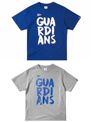 【黑人嚴選】富邦悍將 FUBON GUARDIAN 筆刷字體 短Tee 短T 灰 寶藍