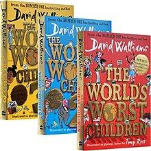 英文原版 The Worlds Worst Children 世界上最糟糕的孩子 幽默趣味小說大衛威廉3冊 唔西.迪西H227