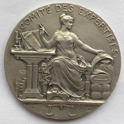 真品評級古幣古鈔收藏法國1822年工業與手工業部貿易銀章 16克 33mm 豐饒角+Argent 台北市