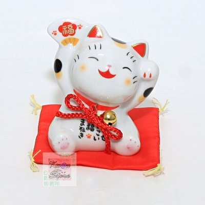 [8cm]日本製 藥師窯 彩繪大福招財貓 送禮自用兩相宜 居家辦公開運擺飾