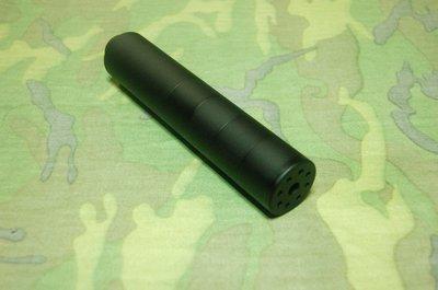 【藍色小鋪】便宜賣您 無消音棉的隔框式4+1鋁合金製滅音器(6mm專用)-UDSP100-UD101-UD102