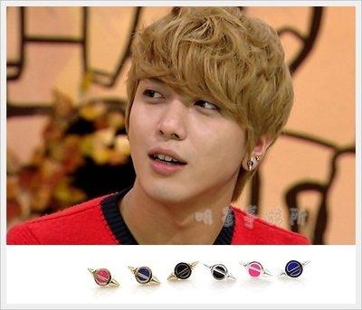 K-POP Market。韓國進口ASMAMA官方正品 CNBlue 鄭容和 同款時尚飛碟造型耳釘耳環 (單支價)