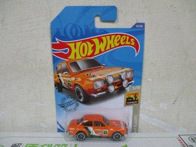 1美捷輪多美汽車風火輪1:64合金車70 FORD Escort RS1600福特雅士拉力賽車固特異輪胎版八十一元起標