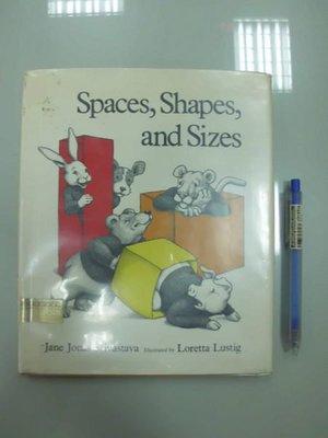 6980銤:A8-3☆1980年『Spaces, Shapes and Sizes』原文 英文童書繪本