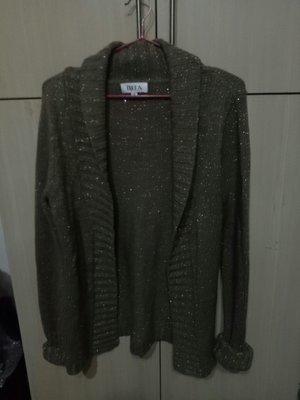 品牌,瓊安專櫃  DITA(M)橄欖綠色肩16胸19長27袖26(476粉)9成新49%亞克力49%羊毛
