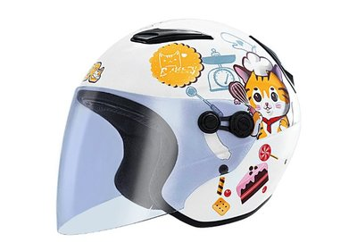 M2R安全帽,兒童安全帽,M700童,#6甜甜貓/白