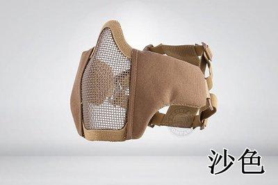 [01] CM1 武士 半罩式 沙 ( 護目鏡眼罩防護罩面罩面具口罩護嘴護具BB彈防彈頭套頭巾鳥嘴射擊cosplay