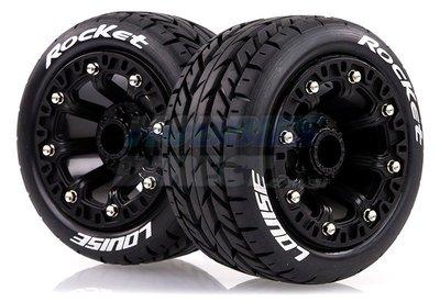 "L-T3188SB   Louise 2.2"" ST-Rocket Tyres on Black Spoke Rims"