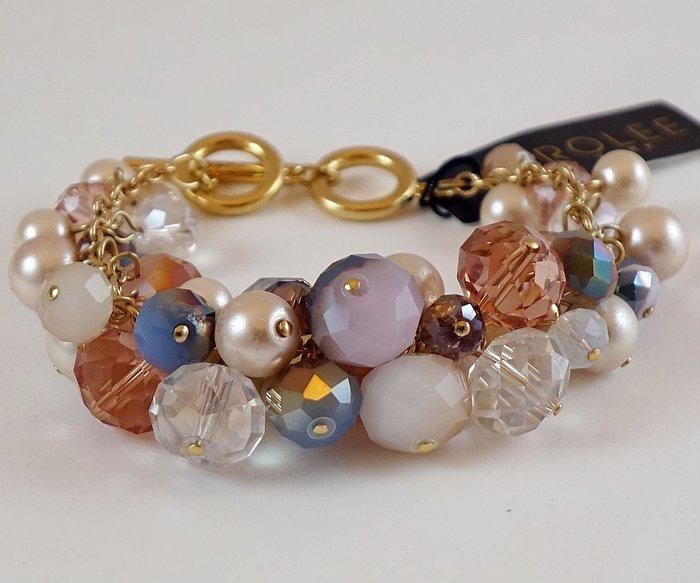 全新美國帶回 CAROLEE 甜美奢華風珠珠金色手環手鍊,附原廠防塵袋與禮盒,只有一件!低價起標無底價!免運費!