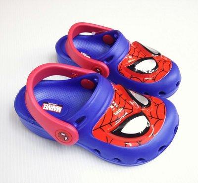 Spider-Man蜘蛛人閃光電燈布希鞋 花園鞋 輕量舒適可涉水15-22