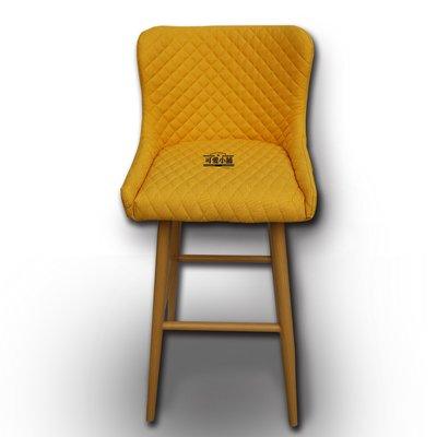 (台中 可愛小舖)簡約北歐現代鄉村風格-黃色高腳餐椅休閒椅木腳椅(有腳踏桿)吧檯椅餐廳椅飯桌椅素面椅餐廳教室Bar家用